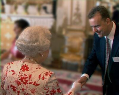 the queen & Martin
